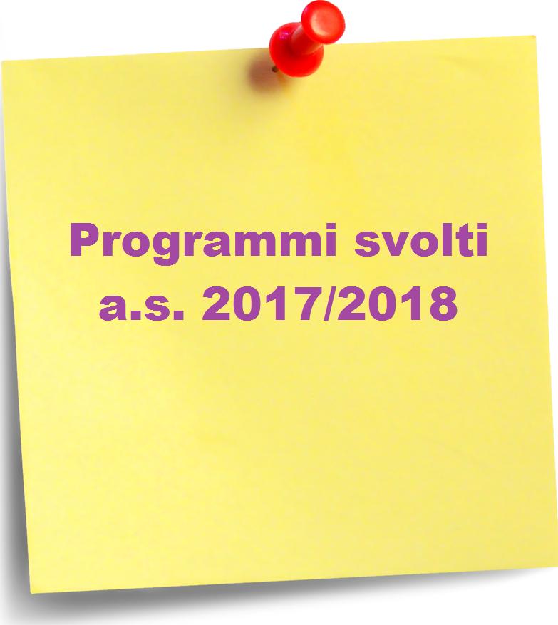 programmi svolti 2018