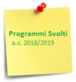 PROGRAMMI 2019