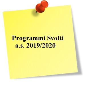 Programmi svolti 2020